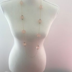 J Crew resin and cubic zirconia necklace